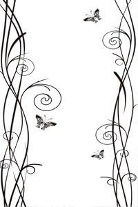 Векторные шаблоны для шкафа купе - Бабочки, Насекомые