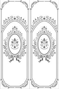 Векторные шаблоны для шкафа купе - Узоры, орнаменты, обои