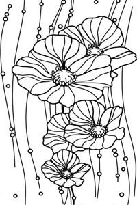 Векторные шаблоны для шкафа купе - Цветы, Растения