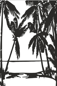 Векторные шаблоны для шкафа купе - Деревья, Пальмы, Ветки