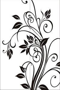 Векторные шаблоны для шкафа купе - Листья