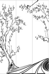 Векторные шаблоны для шкафа купе - Природа, Пейзажи
